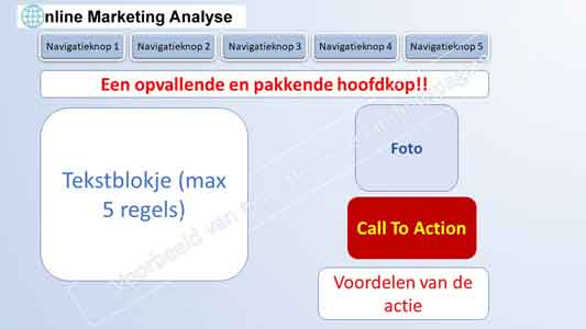 effectieve landingspagina contentmarketing onlinemarketinganalyse
