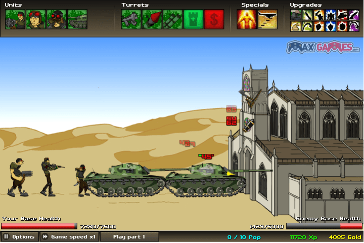 Clone or Copying and claiming it s your idea  Age of War vs The War     You can even try the flash game if you want  I ve added them in our new  section    Free Games