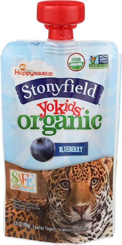 Stonyfield kid\'s yogurt pouches