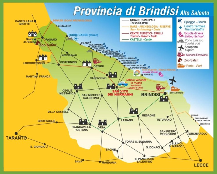 large detailed of brindisi map » Full HD Pictures [4K Ultra] | Full ...