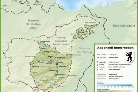 canton of appenzell innerrhoden with cities and towns map » ..:: Edi ...