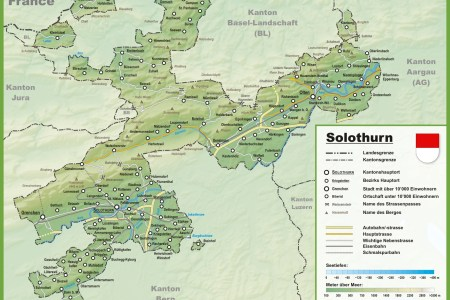 canton of zurich with cities and towns map canton » ..:: Edi Maps ...