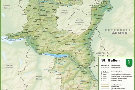 canton of fribourg with cities and towns map » Full HD MAPS ...
