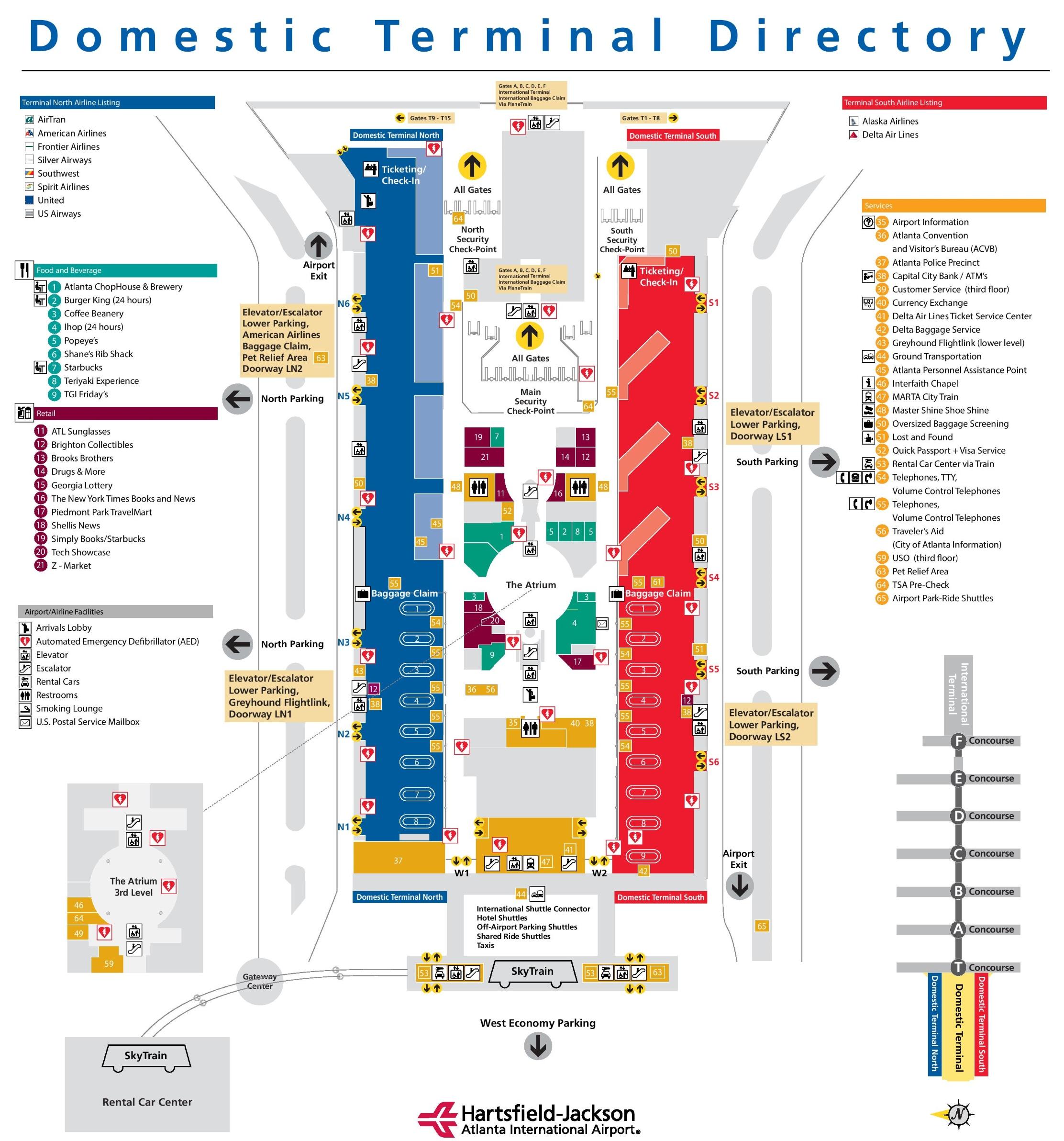 Atlanta Ga Gates Map Airport
