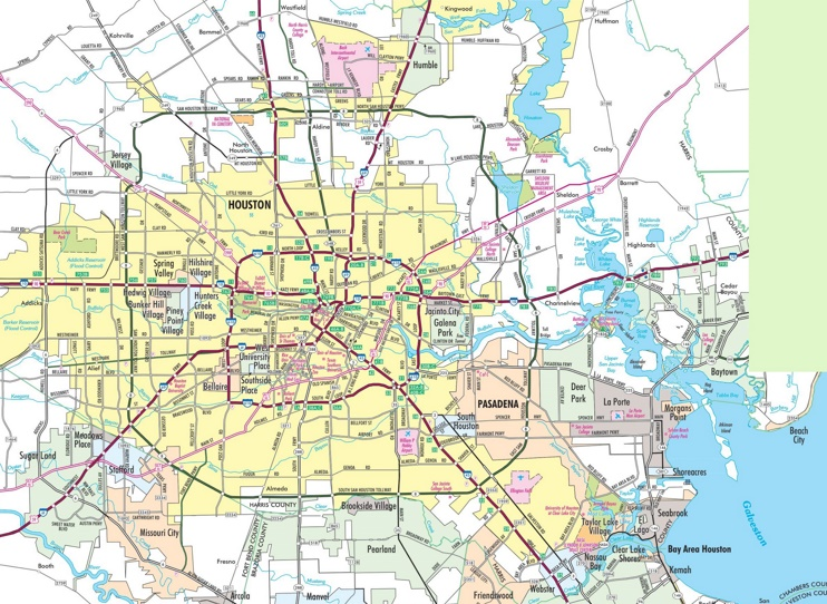 Greater Houston Area Zip Code Map.Greater Houston Zip Code Map