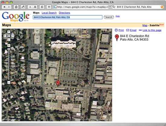 Google adds Satellite Images to Google Maps     Legal Marketing     Helicopter View of where the integrated circuit was invented