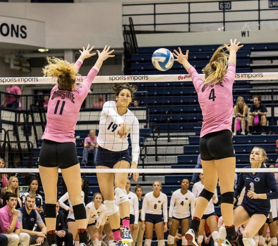 Women's Volleyball Drops First Big Ten Match 3-2 At ...