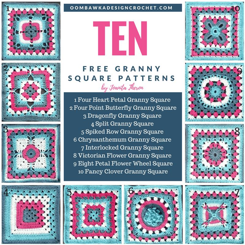 4 Color Crochet Afghan Pattern