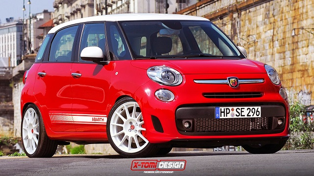 FIAT 500L ABARTH render by XTOMI DESING