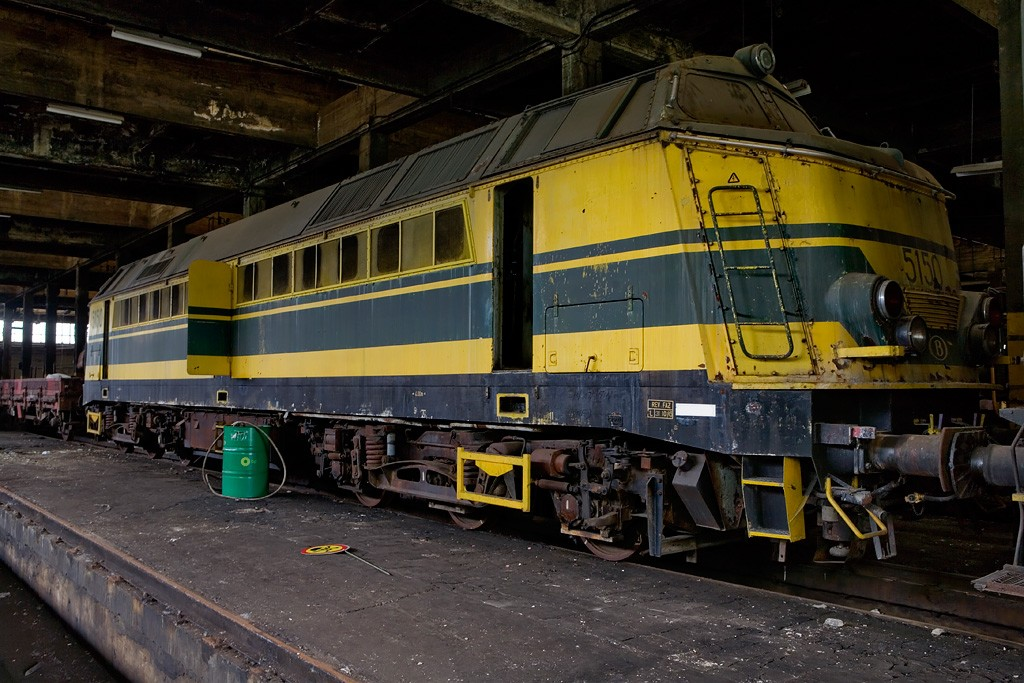 Yellow And Black Photo Of The Abandoned Sncb Train Works