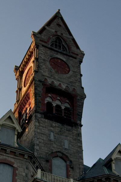 Clock Tower Detail Photo Of The Abandoned Worcester