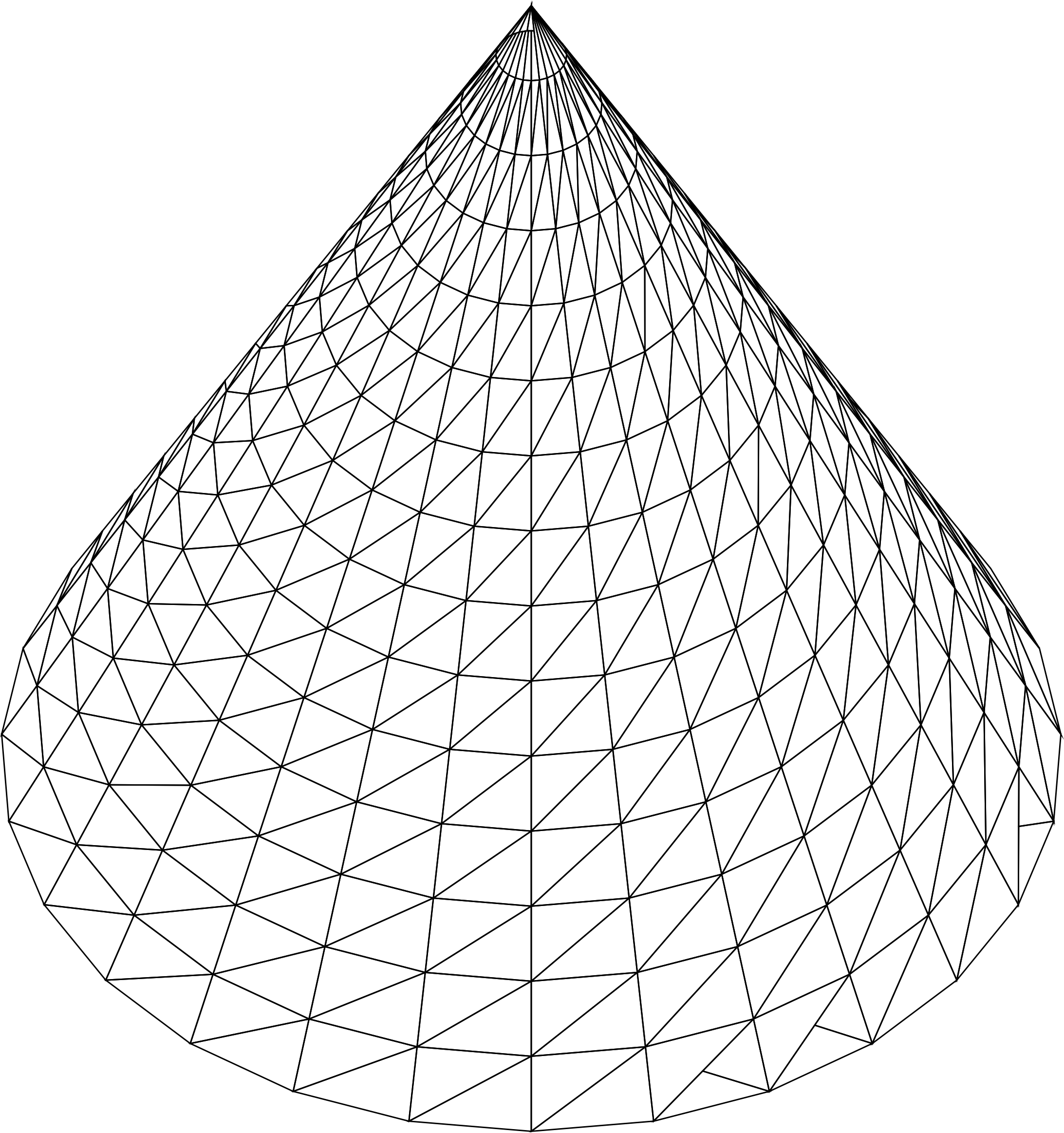 Clipart 3d cone wireframe