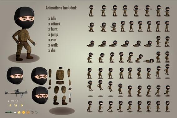 3d Character Sprite Sheet