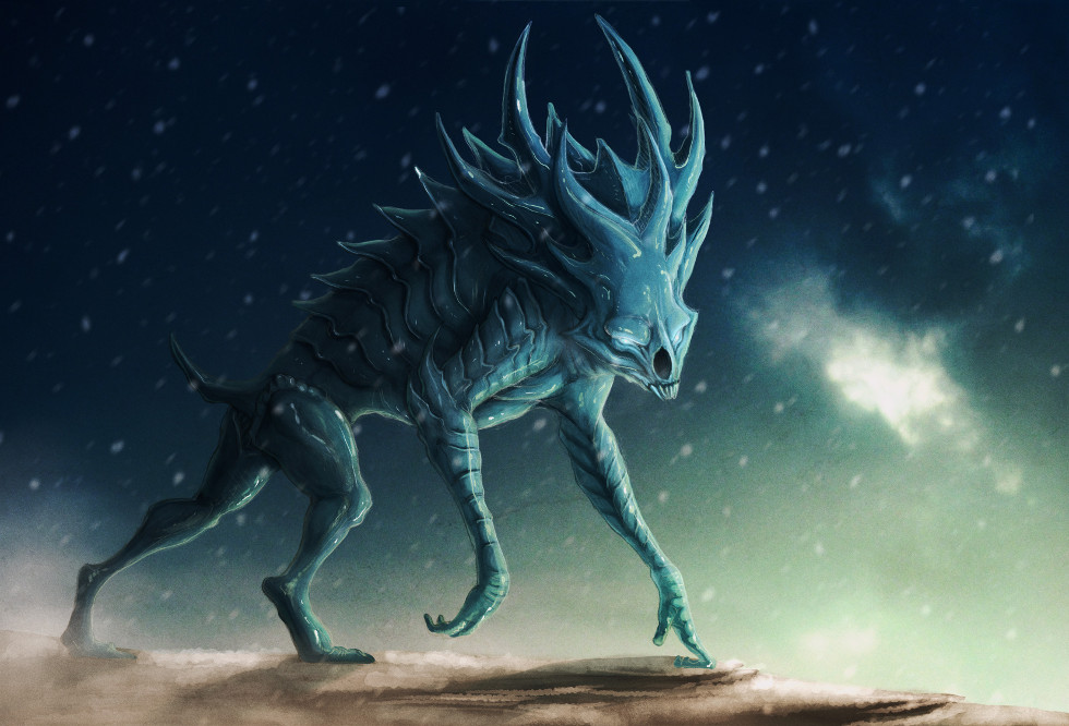 Ice Demon 2d Ancientbeast Com Creature Opengameart Org