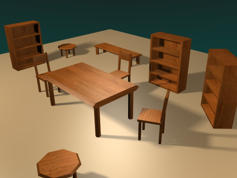 Low Poly Furniture Opengameart Org