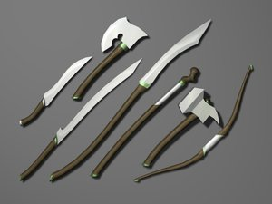 Elven Weapon Set Opengameart Org