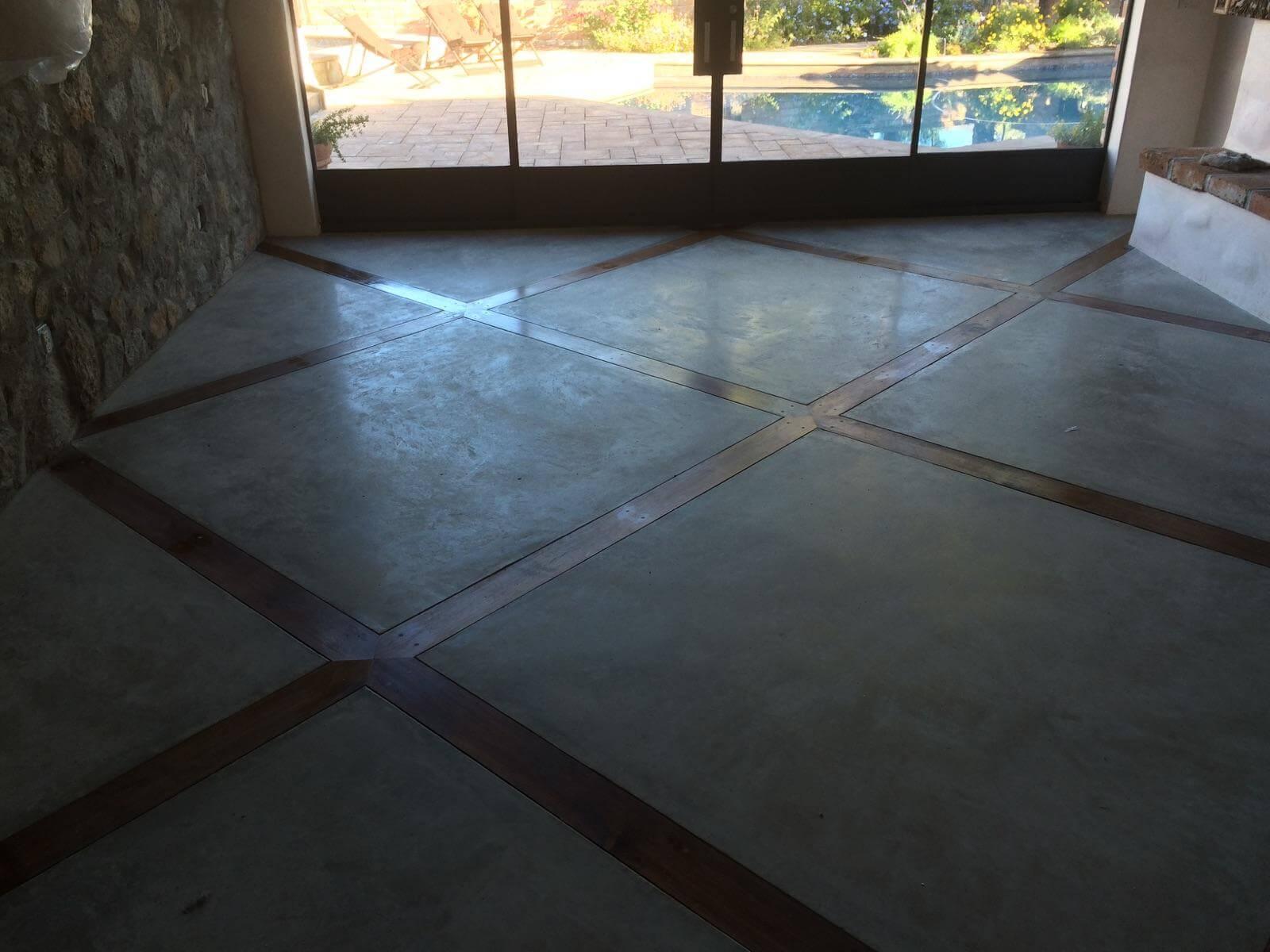 Polished Concrete House Floors With Decorative Wood Inlay Optimum Concrete Llc