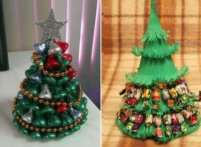 Árbol de navidad de caramelo