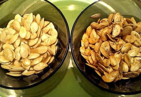 Como fritar sementes de abóbora