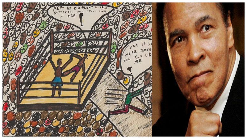 ১০ লাখ ডলারে বিক্রি হলো মোহাম্মদ আলীর আঁকা ছবি