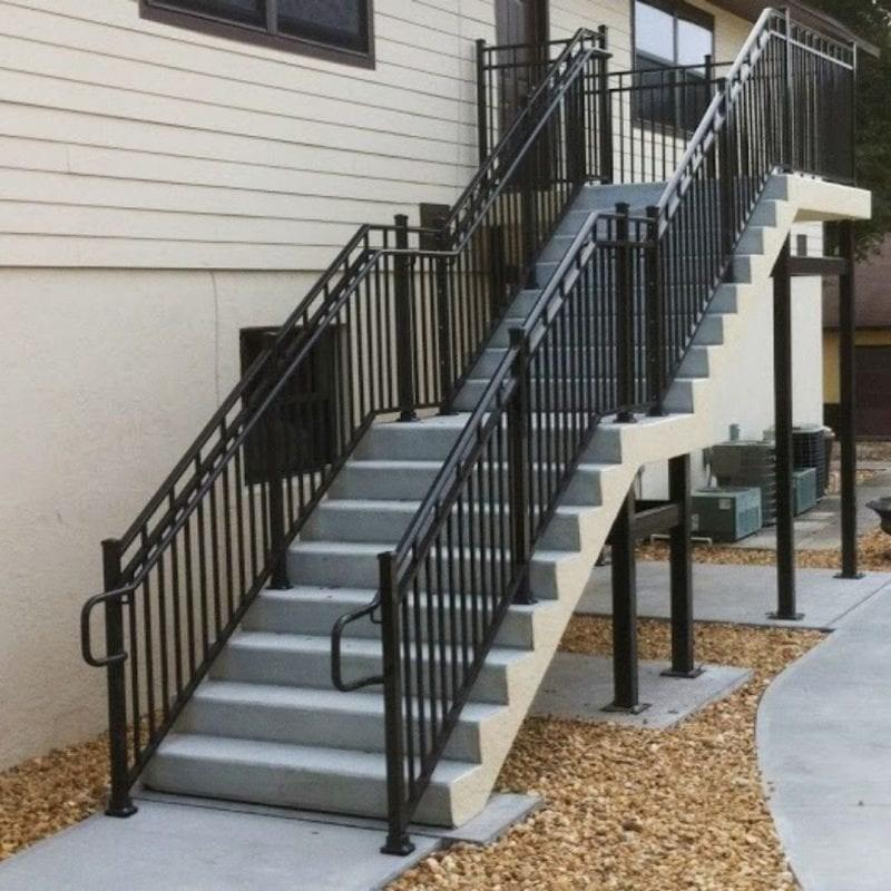 Wrought Iron Balcony Railing Fence Installation Osceola Fence | Iron Handrails Near Me | Iron Balusters | Gates | Fence | Stair Parts | Iron Stair Railings