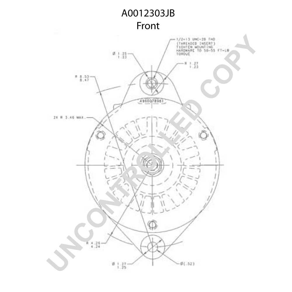 A0012303jb prestolite leece neville alternator 24v 45a a0012303jb 2303jb