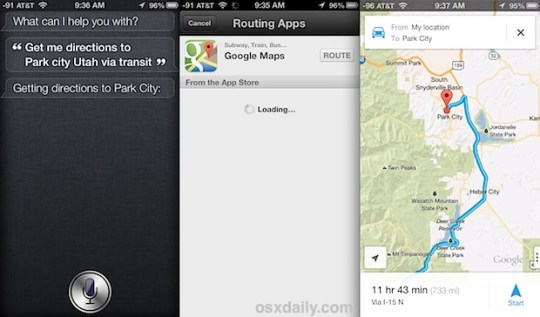 Get Walking Directions in Maps for iPhone Get Siri to Provide Directions from Google Maps