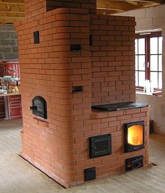 T-formad uppvärmning och matlagningsugn