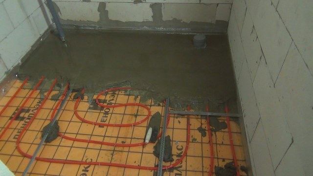 In the insulated semi-insulated floor, nothing prevents the heating contours of the heating floor system