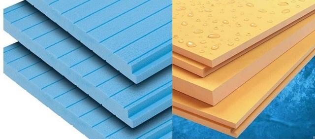 Der Polystyrol-Schaum kann unterschiedliche Eigenschaften aufweisen. Zur Isolierung von Böden ist es besser, extrudiert als dauerhafter und mit hohen thermischen isolierenden Fähigkeiten zu verwenden.