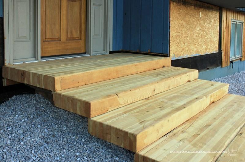 Diy Build Wood Steps Over Concrete Steps Wooden Pdf Rabbit | Wood Stairs Over Concrete | Stair Stringers | Cement | Concrete Slab | Patio | Build
