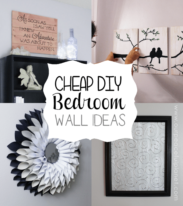 Cheap   Classy DIY Bedroom Wall Ideas      Do you need some cheap bedroom wall ideas  Here are a few things to get