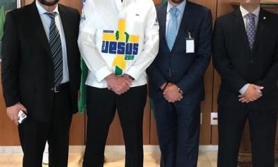 Jair Bolsonaro e líderes evangélicos