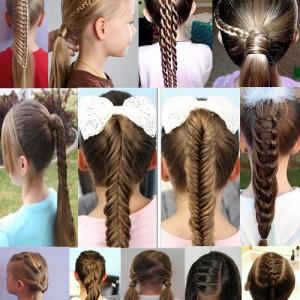 Kiểu tóc của trẻ em cho mỗi ngày ở trường mẫu giáo với những bức ảnh từng bước