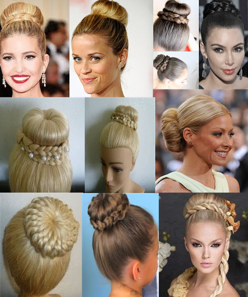 How to make a hairstyle with a bagel, 4 ways