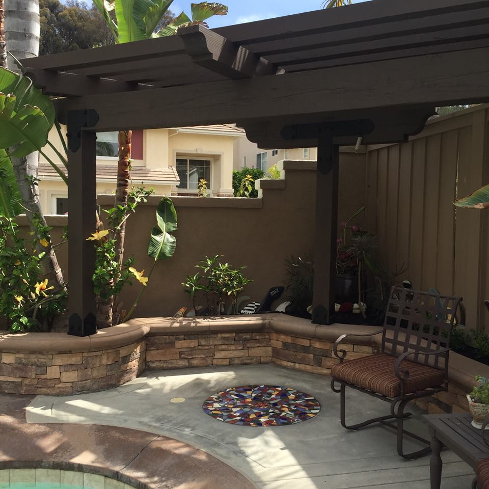 Project Plans Corner Pergola Free Standing Amp Attached