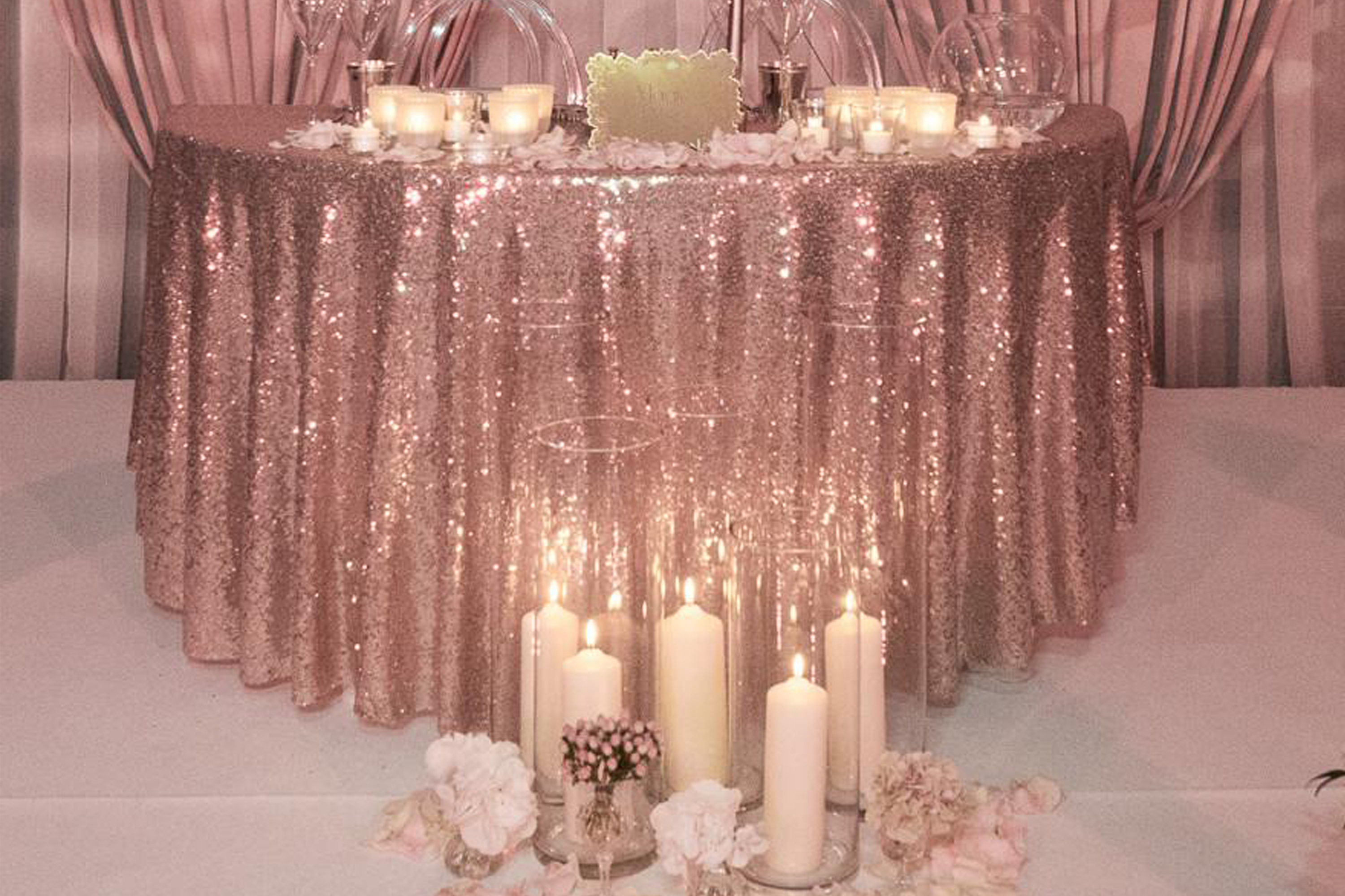 Silver Wedding Decorations Tables