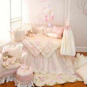 Pink little princess baby crib bedding set   Global Sources     China Pink little princess baby crib bedding set