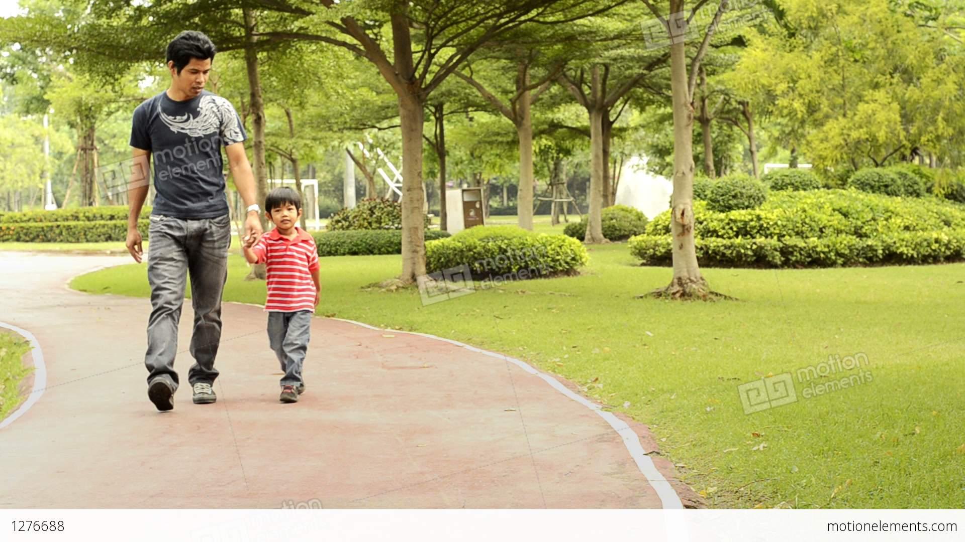 Together Walking Art Clip