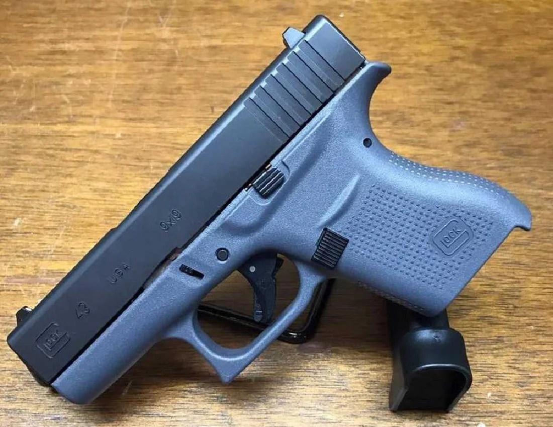 Glock 43 9mm Single Stack Gray Model