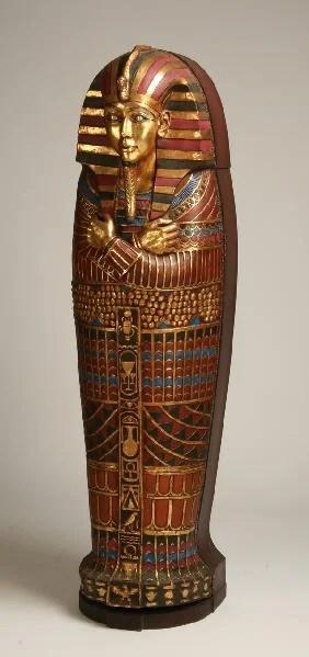 188 Egyptian Style Sarcophagus Bookcase