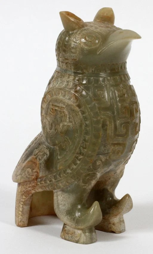 Chinese Jade Carved Birds