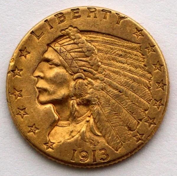 Coin Dollar 2 Gold 1907 1 2