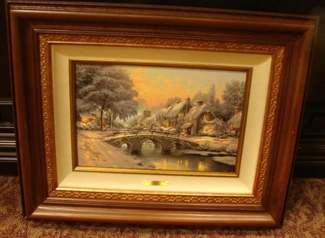 Thomas Kinkade Cobblestone Lane I