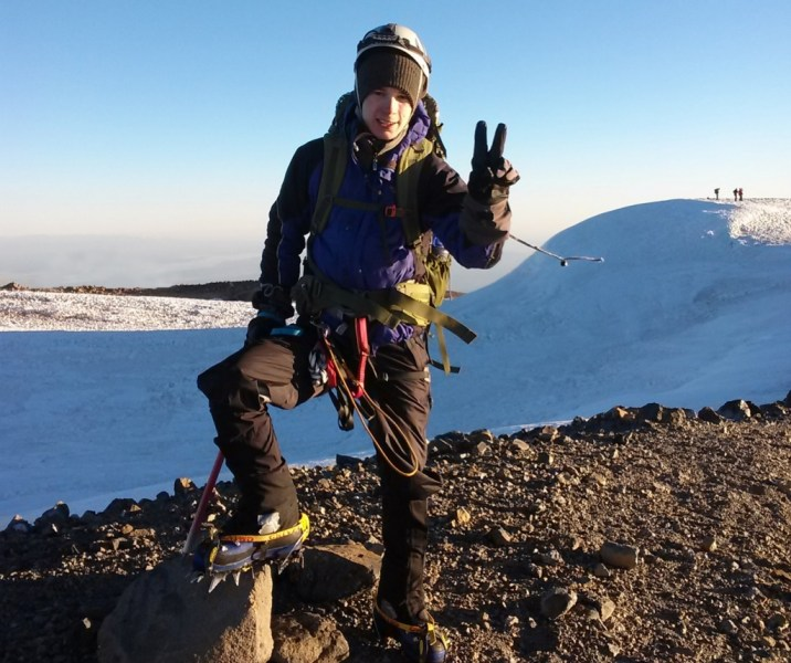 Mountain Climbing  Drone Building  and Fashion Designing Impress the     On top of Mount Rainier  Austin Smith is only two mountains away from  becoming the