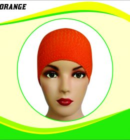Ciput Rajut Anti Pusing Polos - Warna Orange