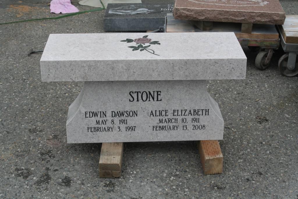 Memorial Bench Portfolio Granite Benches Pacific Coast