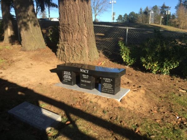 Granite Memorial Benches Pacific Coast Memorials