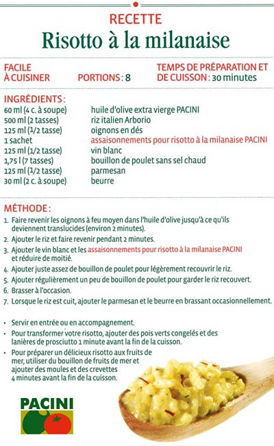 Pacini Restaurant Italien Nos Fameuses Recettes Pacini