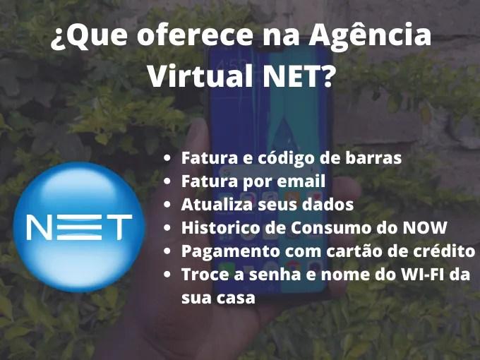 Pagamento segunda via de serviços NET